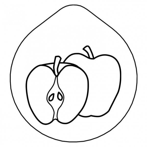 ACCESSOIRE Laserung Motiv 'Apfel' Edelstahldeckel für Karaff