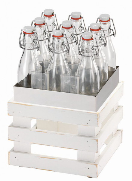 RAISER Getränke-Set '23x23' L-Standfuß 'Vintage White'