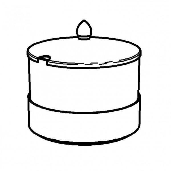 ELEGANCE Butterschale 1,5 Liter, Modell Edelstahl