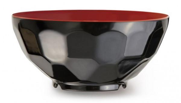 Melamin Schale Rot/Schwarz - 325 ml