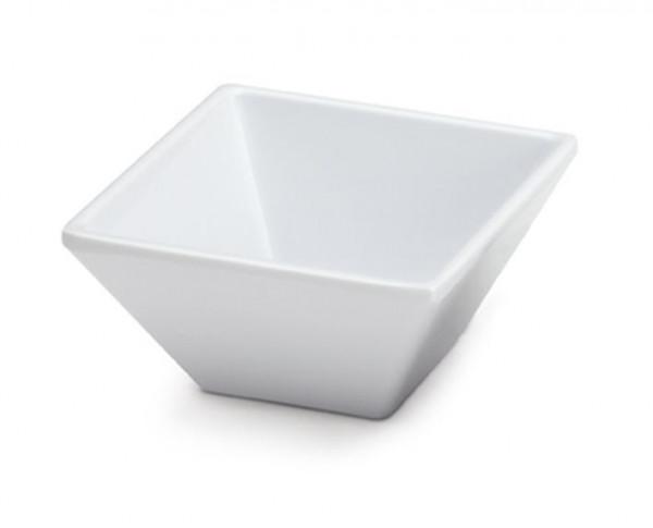 Melamin Schale, quadratisch Siciliano® - weiß - 237 ml