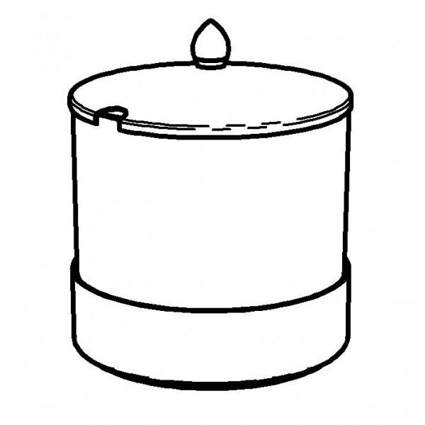 ELEGANCE Butterschale 2,5 Liter, Modell Edelstahl