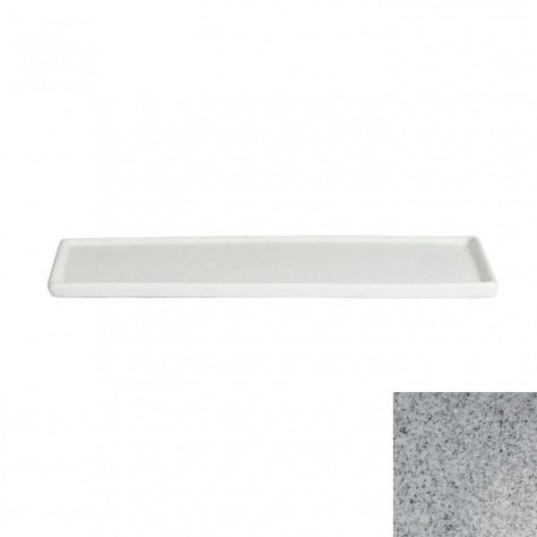 Platte mit Rand, rechteckig grau - 35,1 x 45 x 1,5 cm
