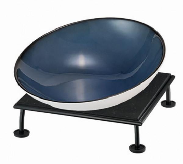 RAISER 'Buffetschale 23x23' blau 2,0 l - S-Standfuß 'Black