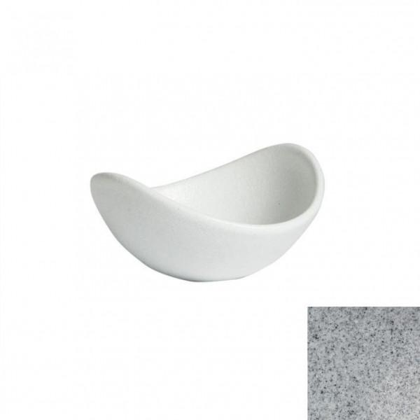 geschwungene Zutatenschale, rund grau - 148 ml - Ø 12,0 x 5