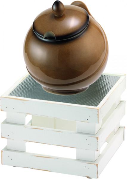 RAISER Buffet Bowl 'Med. 23 x 23'caramel L-Standfuß 'Vintage