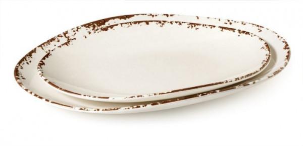 Melanin Tablett, oval Tuscan™ - 45,1 x 33 cm