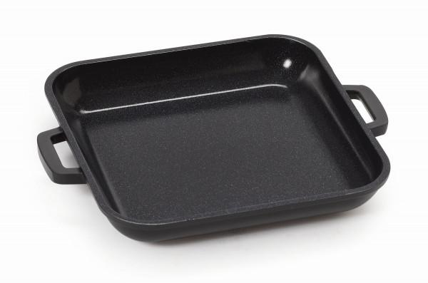 Grillpfanne, mit Griffen schwarz & innen schwarz - 296 ml