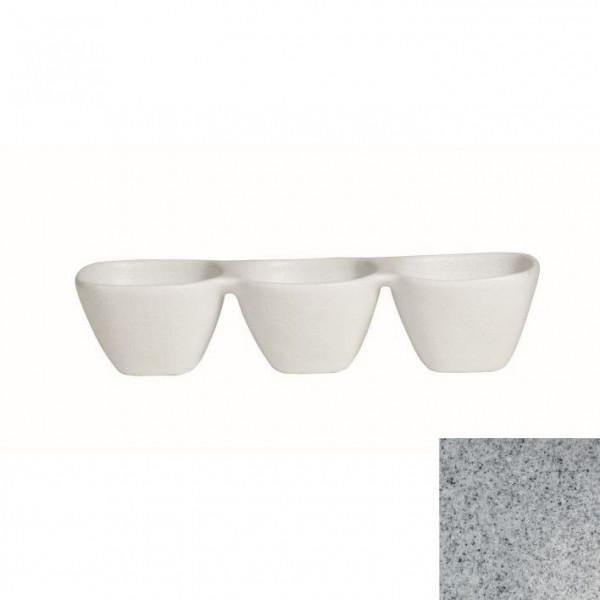 Zutatenschälchen, 3er grau - 600 ml - 38,5 x 13,5 x 8 cm