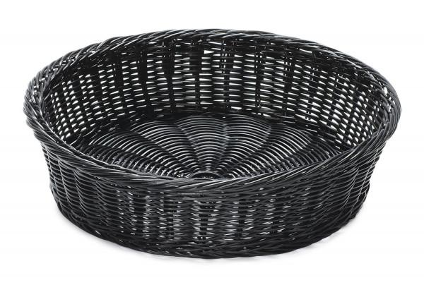 Korb Polypropylen, rund schwarz - Ø 39,4 cm