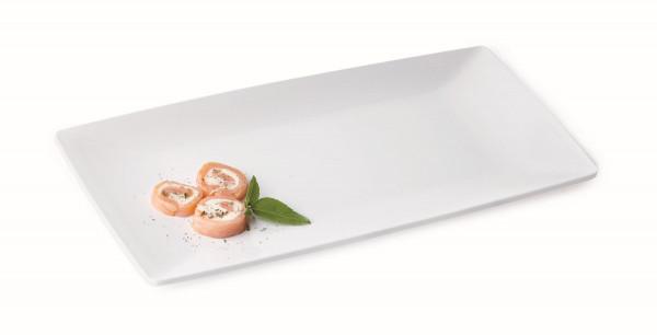 Melamin Tablett Siciliano® - weiß - 38,1 x 19,1 cm
