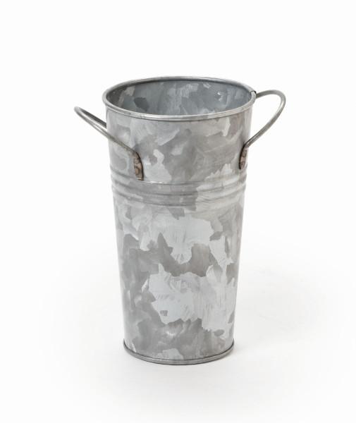 Becher verzinkt, rund, mit Griffen Ø 8,9 x 15,2 cm