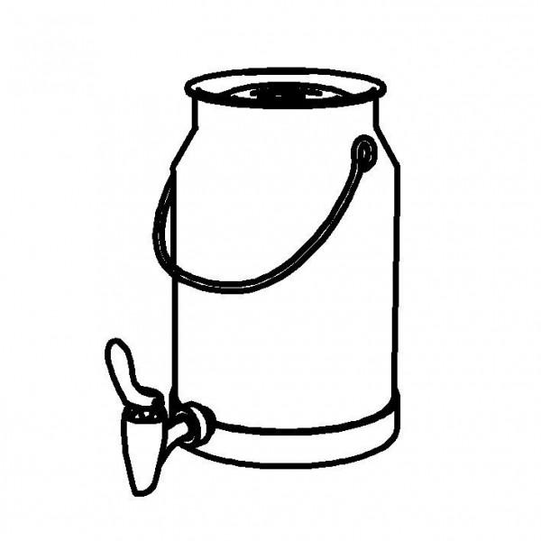 SPARE Nachschubbehälter Milchkanne 5 Liter, Modell Gold