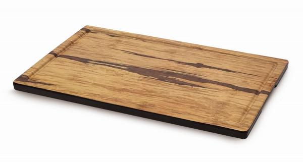 Melamin Servierboard, mit Grifflöchern Akazienholz-Design -