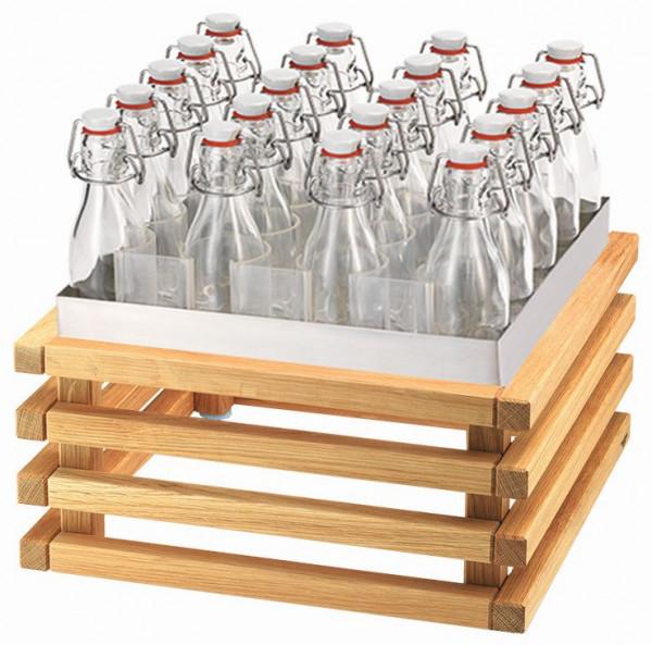 RAISER Getränke-Set '33x33' L-Standfuß 'Oak'
