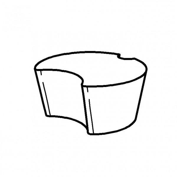 Silikonstopfen für 1 Liter Milchflasche