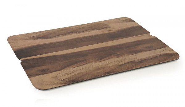 Melamin Servierboard Walnussholz-Design - 51 x 28 cm