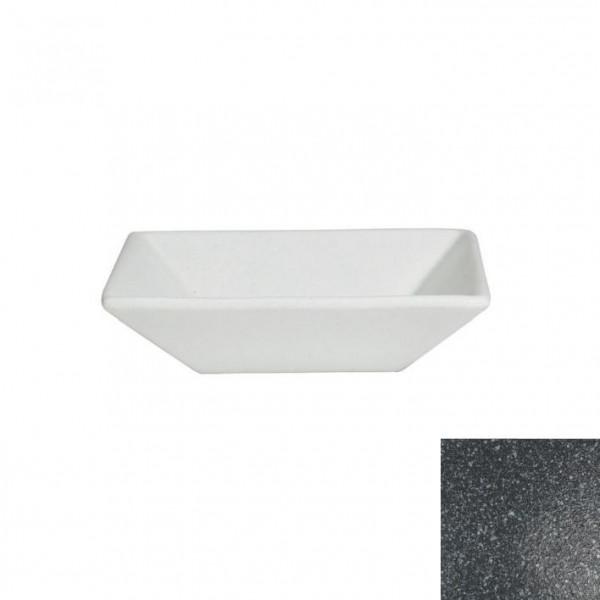 tiefe Schüssel, quadratisch M granitschwarz - 1,8 L - 25 x