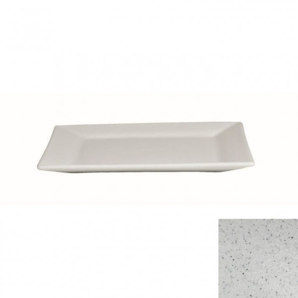 Platte flach, quadratisch marmorweiß - 32 x 32 x 2 cm