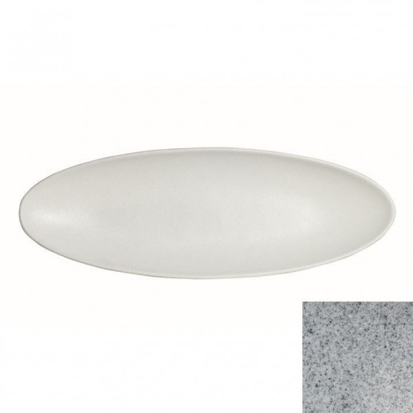 Obstplatte, oval grau - 3,5 L - 25 x 70 x 5,5 cm