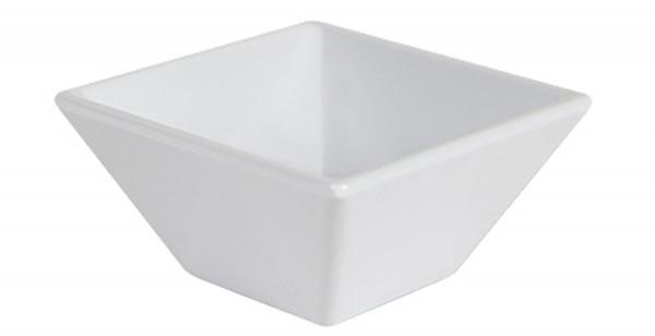 Melamin Schale, quadratisch Siciliano® - weiß - 89 ml
