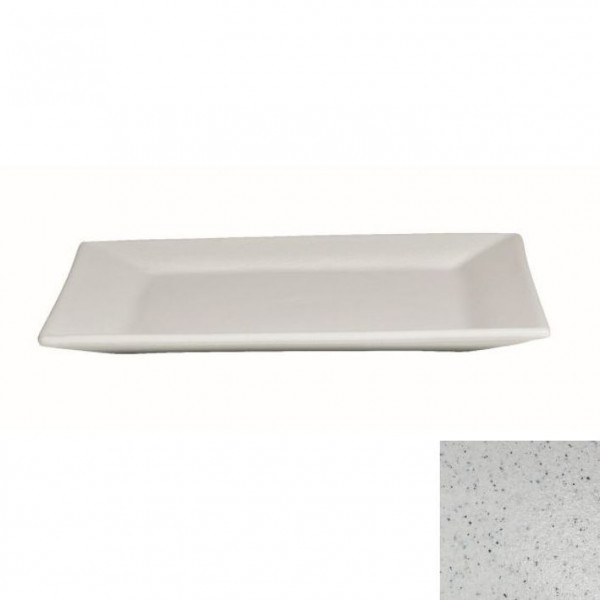 flache Platte, quadratisch marmorweiß - 45 x 45 x 4,5 cm
