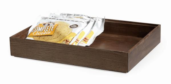 Stapelbare Holzkisten 'Gray Ash' rechteckig - 23 x 30,5 x 5