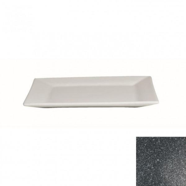 Platte flach, quadratisch granitschwarz - 32 x 32 x 2 cm