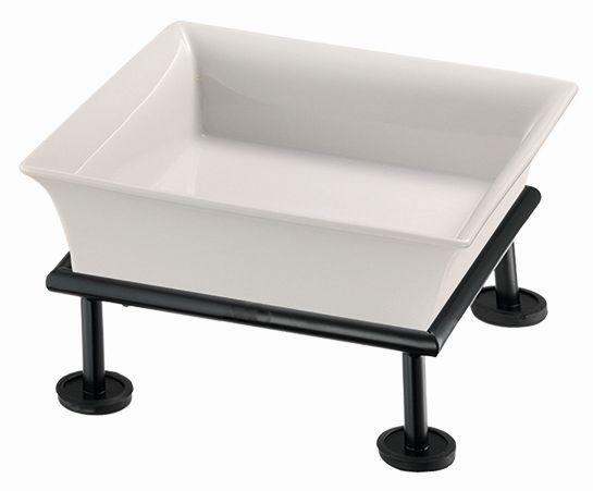 RAISER 'Frischeschale 23x23' weiß 2,5 l - S-Standfuß 'Black