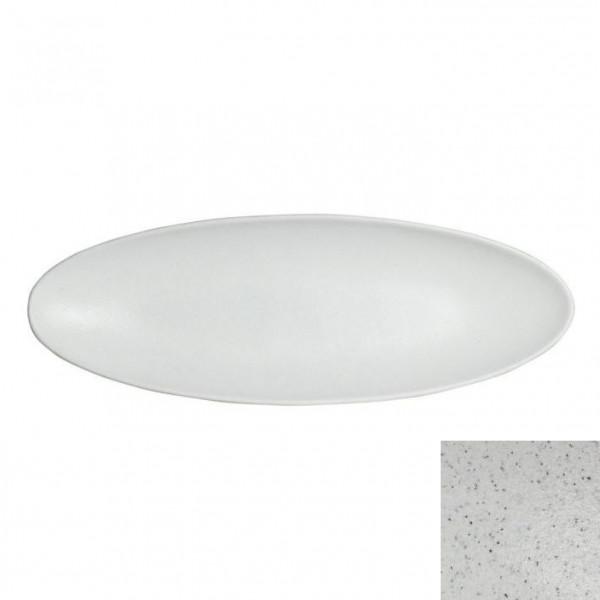 Obstplatte, oval marmorweiß - 750 ml - 17,5 x 55 x 3,5 cm