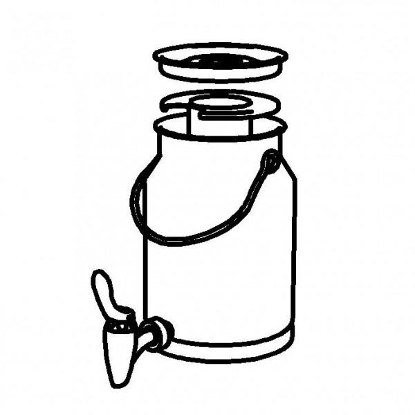 SPARE Nachschubbehälter für Milchkanne 3 Liter, Modell Gold