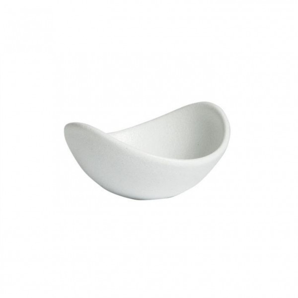 geschwungene Zutatenschale, rund weiß - 148 ml - Ø 12,0 x 5