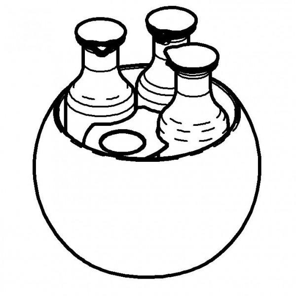CARAFINE Getränke-Set 'Triplet' 3 x 1,2 Liter, Edelstahl