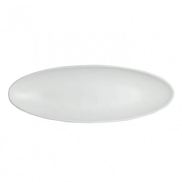 Obstplatte, oval weiß - 750 ml - 17,5 x 55 x 3,5 cm