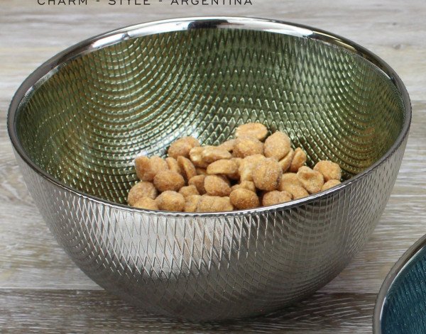 Snack Glasschale, grün 300 ml - Ø 11,4 x 6,4 cm
