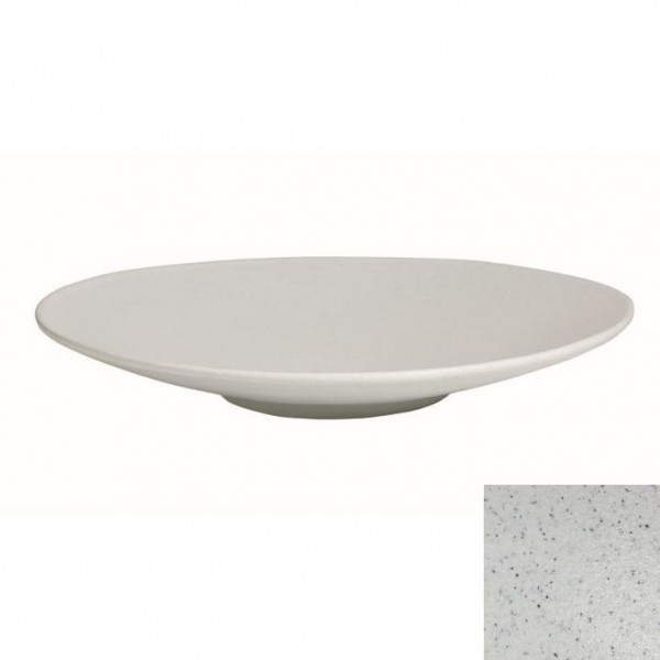 Wok flach, rund marmorweiß - 3,5 L - Ø 47 x 7 cm