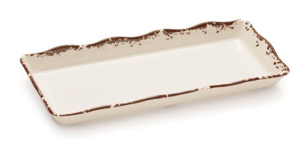 Melamin Tablett, rechteckig Tuscan™ - 35,6 x 14 cm