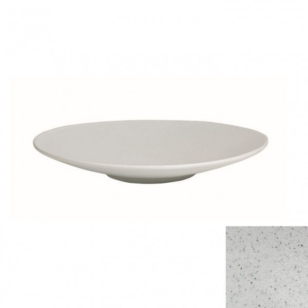 Wok flach, rund marmorweiß - 1,8 L - Ø 39 x 5,5 cm