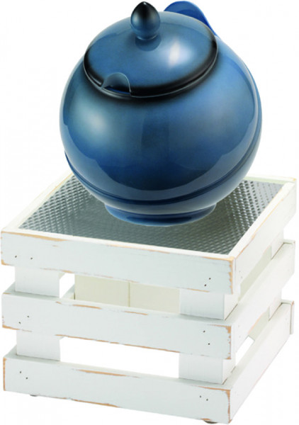 RAISER Buffet Bowl 'Med. 23 x 23' blau L-Standfuß 'Vintage