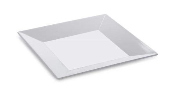 Melamin Platte, quadratisch Siciliano® - weiß - 35,6 x 35,6