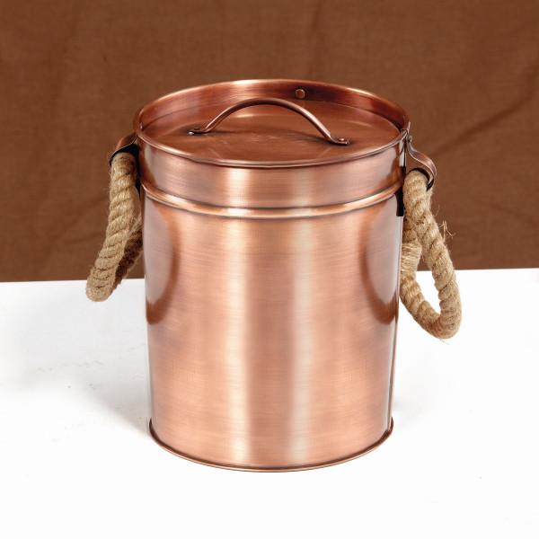 Kupfer Eisbehälter, rund Ø 25,4 x 19,1 cm