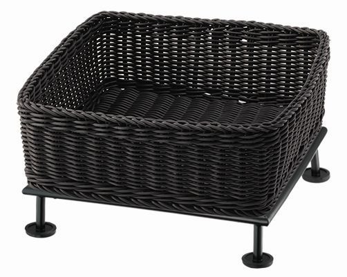RAISER Brotkorb '33x33' grey 9,0 l - S-Standfuß 'Black Steel