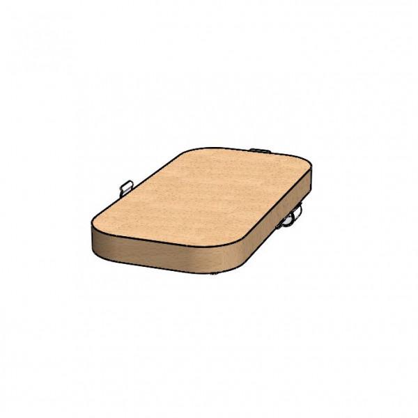 Standfußeinlage aus Holz - schmal für GASTRO Vario Rack
