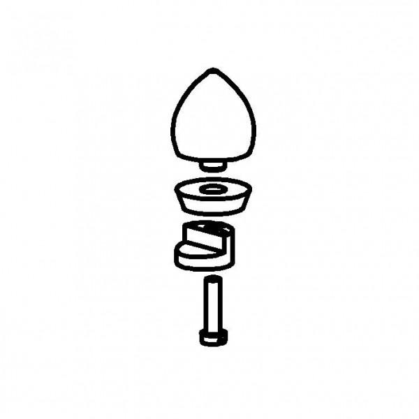 SPARE Griff Edelstahlgriff mit Deckelhalterung