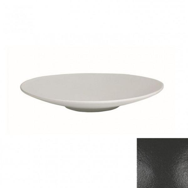 Wok flach, rund schwarz - 1,8 L - Ø 39 x 5,5 cm