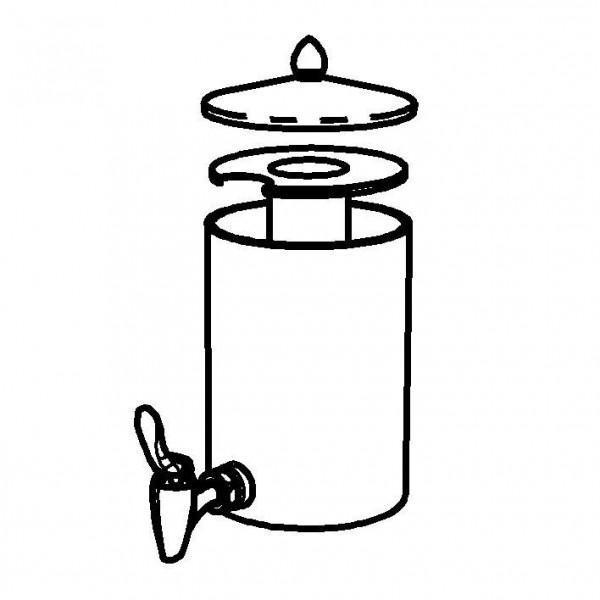 SPARE Nachschubbehälter Opal,Saftkanne 2,5 Liter, Mod. Gold
