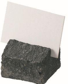 ACCESSOIRE Schild Aufstellschild aus Naturstein 'Basalt'