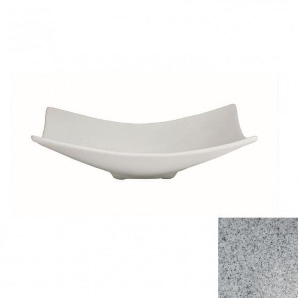 Obstschale L, quadratisch grau - 3 L - 39 x 39 x 11 cm