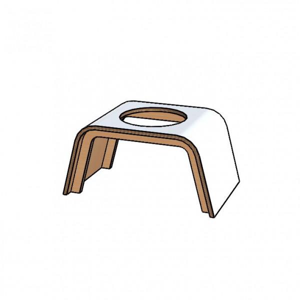 1er Standfuss für Ace of Vase aus Multiplex-Holz