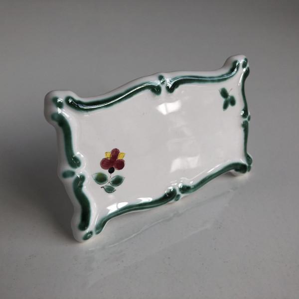 ACCESSOIRE Schild Keramikschild (weiß) mit Blumendekor